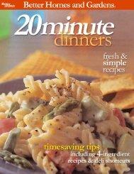 20 Minute Dinners PDF