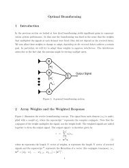 Optimal Beamforming 1 Introduction 2 Array Weights and the ...