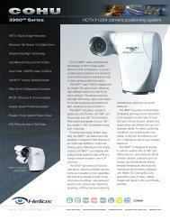3960HD Series HDTV/H.264 camera positioning system - BRSL