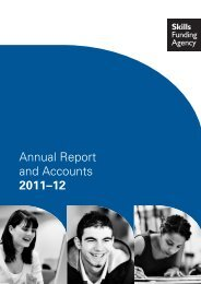 Skills Funding Agency Annual Report and Accounts 2011 - 12