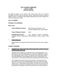 CITY COUNCIL MINUTES - City of Auburn - State of California