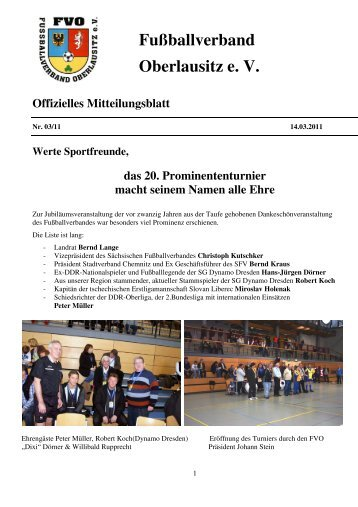 Mitteilungsblatt FVO 03/2011 - Fussballverband Oberlausitz