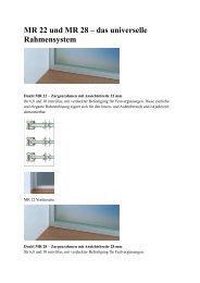 MR 22 und MR 28 – das universelle Rahmensystem - Glas und ...