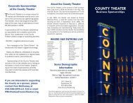 our business sponsor press kit (PDF) - The County Theater