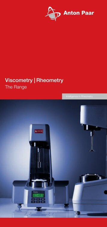 Viscometer & Rheometry – The Range - MEP Instruments