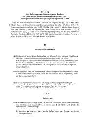 Satzung über die Erhebung von Kostenersatz und Gebühren bei ...