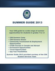 CDS Summer Guide 2013 - The Country Day School