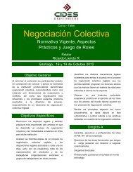 Negociación Colectiva - CIDES Corpotraining