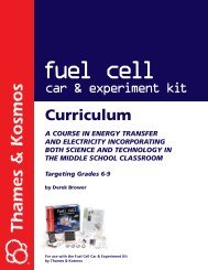 Fuel Cell Curriculum - Super Science Fair Projects