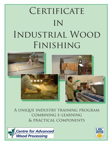 Certificate in Industrial Wood Finishing - Solutions for Wood