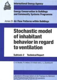 Stochastic Model of Inhabitant Behaviour - Ecbcs