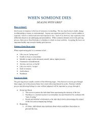 When Someone Dies - Dealing with Grief