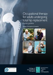 Total hip replacement - College of Occupational Therapists
