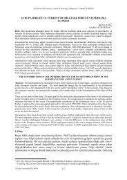 avrupa birliği ve türkiye'de bilgi sektörünün istihdama katkısı