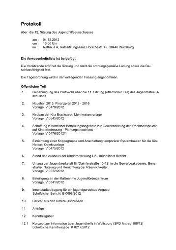 Protokoll der Sitzung vom 04.12.2012 (PDF, 30 KB) - Wolfsburg