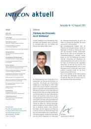 EX_INTECON Newsletter_4_2013.indd - Intecon Treuhand und ...