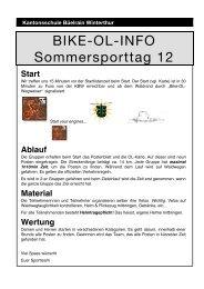 Disziplinen Informationen - Kantonsschule Büelrain, Winterthur