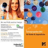 Ferienprogramm 2013 für Kinder & Jugendliche - Stadt Rüsselsheim