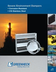 Severe Environment Dampers - Greenheck