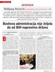 Bushova administracija nije `eljela da od BiH napravimo dr`avu