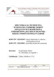 Specyfikacje techniczne wykonania i odbioru robót 1