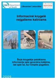 Informacinė knygelė neįgaliems kaliniams - Prison Reform Trust