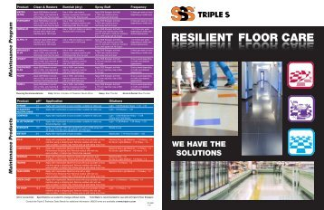 RESILIENT FLOOR CARE GUIDE - Triple S