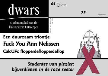download PDF - dwars - Universiteit Antwerpen