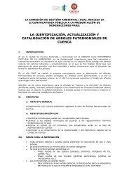 Convocatoria - Comision de Gestion Ambiental - Municipio de Cuenca