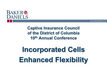 Presentation 1 - Captive Insurance Council of the District of Columbia