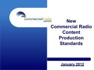New Commercial Radio Content Production ... - Digital Radio Plus