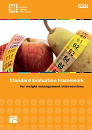 Standard Evaluation Framework - BHF National Centre - physical ...