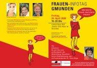 FRAUEN-INFOTAG GMUNDEN - Traunsteinregion