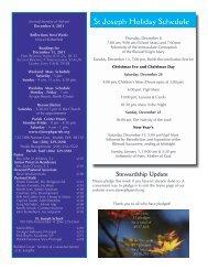 December 4, 2011 Bulletin - St. Joseph Parish