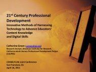 21st Century Professional Development Harnessing ... - COABE