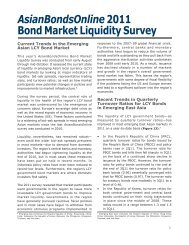AsianBondsOnline 2011 Bond Market Liquidity Survey