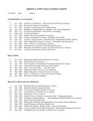 ARIZONA TOWN HALL PUBLICATIONS