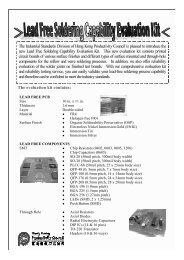 Lead Free Soldering Capability Evaluation Kit