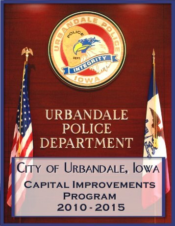 Capital Improvements Program (CIP) Document - City of Urbandale