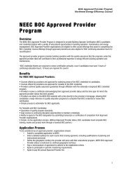 NEEC BOC AP Program - Building Operator Certification