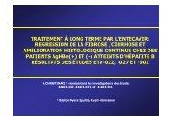 Traitement à long terme par l'entecavir:régression de la fibrose ... - Afef