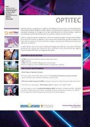 Plaquette pôle Optitec - Mission de développement économique et ...