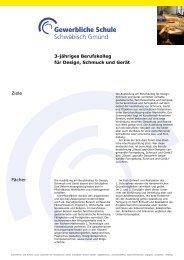 Information 3-jähriges Berufskolleg Design, Schmuck und Gerät