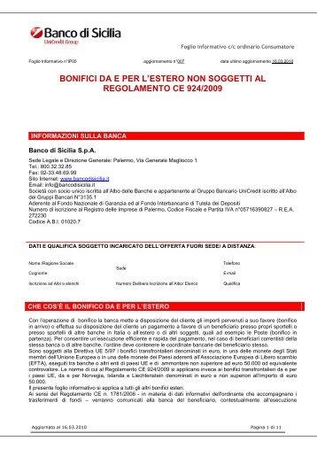 BONIFICI DA E PER L'ESTERO NON SOGGETTI AL - Unicredit