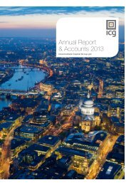 Annual Report & Accounts 2013 - Intermediate Capital Group PLC