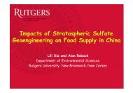 Impacts of Stratospheric Sulfate Geoengineering on Food Supply in ...