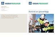 Kontroll av gassanlegg - Yara Praxair