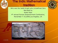 The Indic Mathematical tradition - Indic Studies Foundation