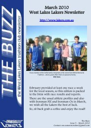 March 2010 West Lakes Lakers Newsletter - the Lakers Triathlon Club