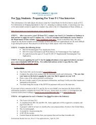 For New Students: Preparing For Your F-1 Visa Interview